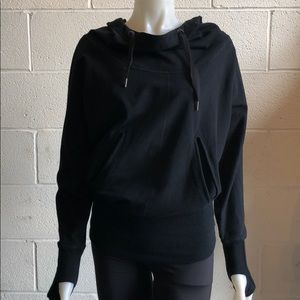 lululemon athletica Tops - Lululemon black sweatshirt w/ hood size 4 61510